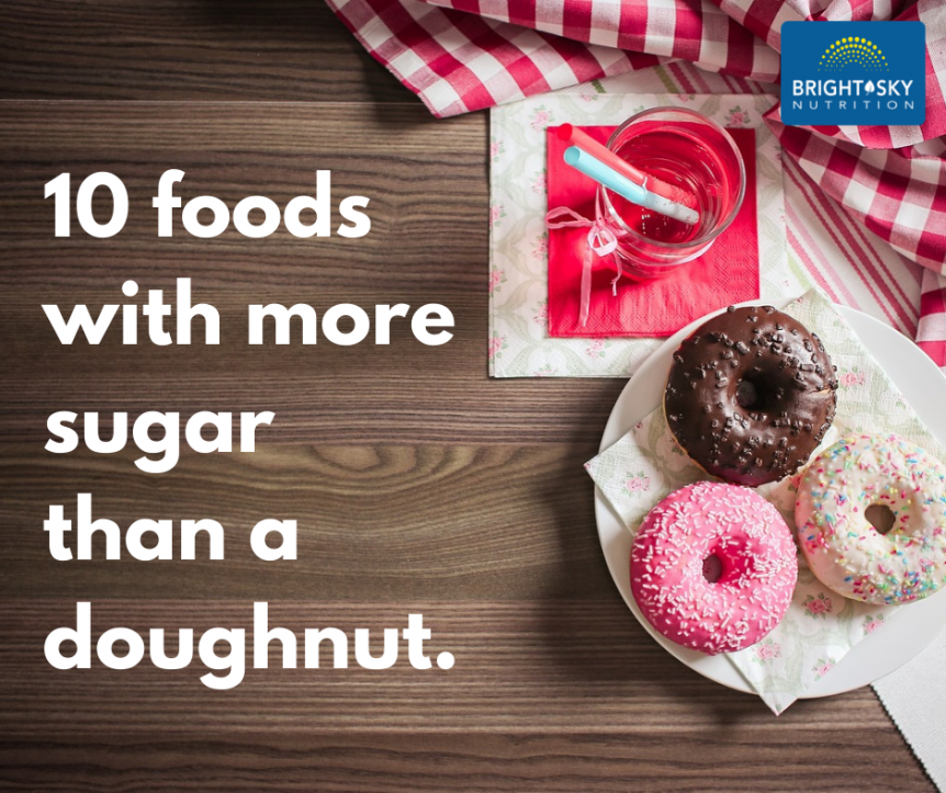 10 Foods with more sugar than a doughnut